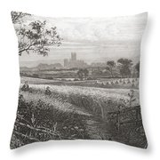 Canterbury, Kent, England Seen From Throw Pillow