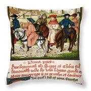 Canterbury Pilgrims Throw Pillow
