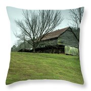 Cantilever Barn Sevier County Tennessee Throw Pillow