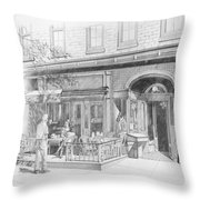 Cantina Restaurant In Saratoga Springs Ny Storefront Throw Pillow