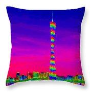 Canton Tower  Throw Pillow