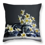 Canton With Daffodils Throw Pillow