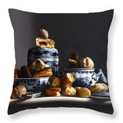 Canton With Donuts Throw Pillow