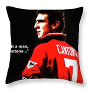 Cantona  Throw Pillow