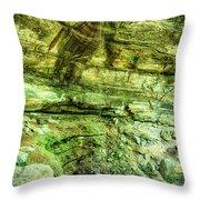 Cantwell Cliffs 2 Hocking Hills Throw Pillow