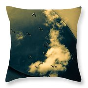 Canvas Seagulls Throw Pillow