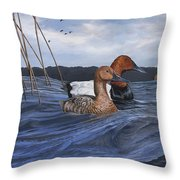 Canvasbacks Throw Pillow