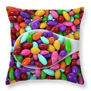 Candy Covered Sunflower Seeds Throw Pillow