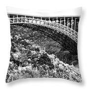 Canyon Bridge Throw Pillow
