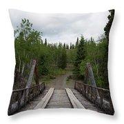 Canyon Creek Bridge Throw Pillow