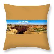 Canyon De Chelley Panoramic Throw Pillow