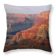Canyon Dusk Throw Pillow