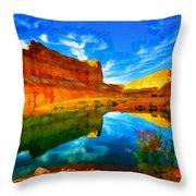 Canyon Glories Throw Pillow