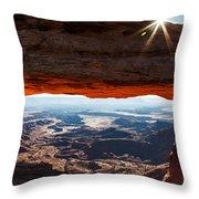 Canyon Glow Throw Pillow