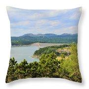 Canyon Lake Dam Throw Pillow