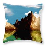 Canyon Lake Throw Pillow