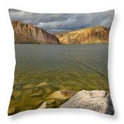 Canyon Lake Stormy Sky Throw Pillow