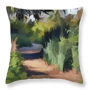 Canyon Path II Painterly Throw Pillow