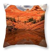 Canyon Reflections At Yant Flat Throw Pillow