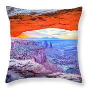 Canyon Reflections Throw Pillow