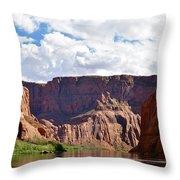 Canyon Rocks Throw Pillow