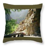 Canyon Rocks Horizontal Throw Pillow