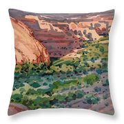 Canyon Shadows Throw Pillow