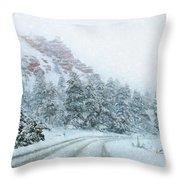 Canyon Snow Throw Pillow