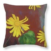 Canyon Sunflower Throw Pillow