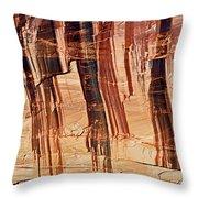 Canyon Textile Design Throw Pillow