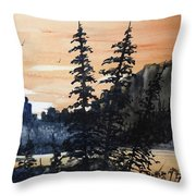 Canyon Trees, Watercolor Throw Pillow
