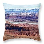Canyonland Panorama Throw Pillow
