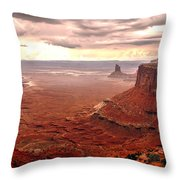 Canyonland Rain Throw Pillow