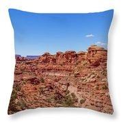 Canyonlands National Park - Big Spring Canyon Overlook Throw Pillow