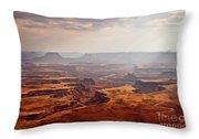 Canyonlands Panorama Throw Pillow