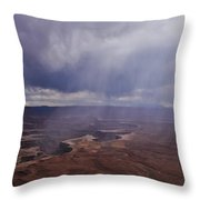 Canyonlands Rain On The Green River Throw Pillow