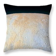 Canyons Around Plutos North Pole Throw Pillow