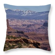 Canyons Of Dead Horse State Park Throw Pillow