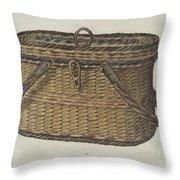 Cap Basket Throw Pillow