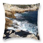 Cap De Nice Throw Pillow