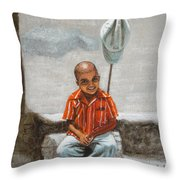 Cap Off Throw Pillow