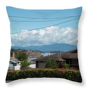 Cap Sante And Chuckanut Throw Pillow