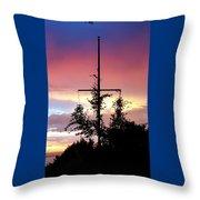 Cape Ann Sunset Silhouettes Throw Pillow