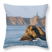 Cape Arago Lighthouse Throw Pillow