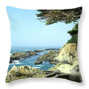 Cape Arago, Or. Throw Pillow