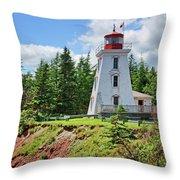 Cape Bear Lighthouse - 2 Throw Pillow
