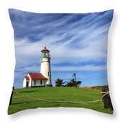 Cape Blanco Lighthouse Above The Rope Throw Pillow