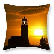 Cape Blanco Lighthouse Sunset 2 Throw Pillow