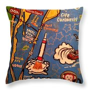Cape Canaveral 1960 Throw Pillow
