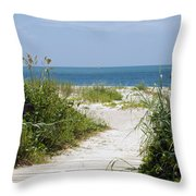 Cape Canaveral Florida Throw Pillow